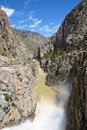 Buffalo Bill Dam Water Discharge And Ranbows Stock Images - 95413774