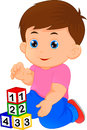 Little Boy Playing With Alphabet Block Royalty Free Stock Photography - 95466897