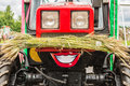 Funny Red Tractor At A Harvest Festival Stock Photography - 95478312