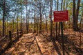 Footpath And Thicket In Providence Canyon State Park, Georgia, USA Royalty Free Stock Photography - 95506477