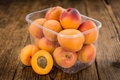 Fresh Apricots On Wooden Background Selective Focus Stock Photos - 95509883