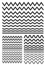 Vector Big Set Of Seamless Wavy - Curvy And Zigzag - Criss Cross Stock Photography - 95517482
