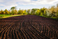 Black Soil Plowed Field. Earth Texture Royalty Free Stock Image - 95525306