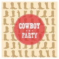 Cowboy Party Card Illustration Royalty Free Stock Photography - 95525507
