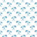Seamless Pattern Background With Hand Drawn Palm Trees  Stock Images - 95528764