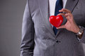 The Businessman Holding Red Heart In Love Concept Royalty Free Stock Photography - 95535797