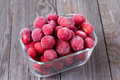 Frozen Strawberries Stock Image - 95546461