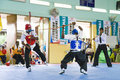 Stick Fighting (Silambam) Action Royalty Free Stock Images - 9563339