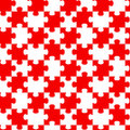 Red Jigsaw Puzzle Pieces Seamless Background Royalty Free Stock Photography - 95606107