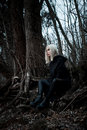 Shot Of A Gothic Woman In A Forest. Stock Photography - 95610052