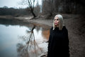 Shot Of A Gothic Woman In A Forest. Stock Image - 95610151