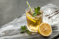 Ice Tea With Lemon And Mint Stock Images - 95630104
