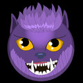 Vector Halloween Monsters Emoji Smiley Face Werewolf Emoticons Wolfman Lover Gift Eps Ai Stock Photos - 95633313