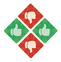Thumbs Up And The Bottom Vector Icons Royalty Free Stock Images - 95647279