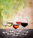 Set Of Glasses With Wine Stock Photography - 95648092