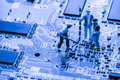 Close Up Of Bitcoin Money Mining On Graphic Card,we See The Technology Of The Mainboard, Stock Photo - 95666050