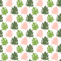 Tropic Plant Seamless Pattern Royalty Free Stock Image - 95684246
