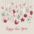 New Year& X27;s Toys Hand Drawn Style. Royalty Free Stock Photos - 95688588