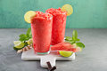 Watermelon Slushie With Lime Royalty Free Stock Images - 95693519