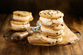 Ice Cream Sandwiches With Chocolate Chip Cookies Stock Images - 95694934