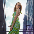 Beautiful Lady In Downtown Royalty Free Stock Photo - 9570075