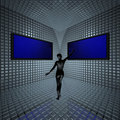 Monitors In Grid Room Stock Photos - 9571683