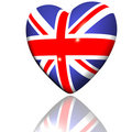Heart With Britain Flag Texture Stock Image - 9571981