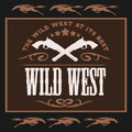 Vintage Wild West Poster With Crossed Colts Royalty Free Stock Photography - 95711517