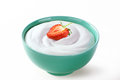 Strawberry In Cream Sour Isolated   White Background Royalty Free Stock Image - 95727376
