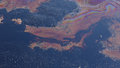 Former Dump Toxic Waste, Oil Lagoon Contamination, Nature Effects From Water And Soil Stock Image - 95756051