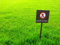 Keep Off The Grass, Warning Sign Stock Photography - 95769102