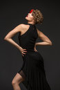 Girl Dancer In Tango Dress Royalty Free Stock Images - 95770419