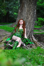 Young Beautiful Red-haired Girl In The Image Of The Comic Book Poison Ivy Royalty Free Stock Photo - 95778745