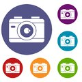 Photo Camera Icons Set Stock Images - 95795624