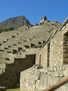 Machu Picchu Terraces Looking Up To Guardhouse Stock Photography - 9580812