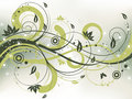 Grunge Floral Background Royalty Free Stock Photo - 9583855