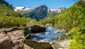 River Flowing From Glacier Royalty Free Stock Photography - 95801767