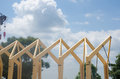 Wooden Frame Of Commercial Construction Stock Photo - 95817800