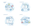 Set Of Concept Line Icons For Social Media, Networking, Marketing, Campaign And Apps Royalty Free Stock Images - 95818449