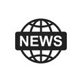 World News Flat Vector Icon. News Symbol Logo Illustration Stock Images - 95819924