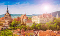 Cityscape Sighisoara, Romania Royalty Free Stock Images - 95820849