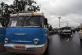 Old Buses Shown At Moscow Transport Day Celebration Stock Photography - 95825042
