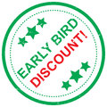 Early Bird Discount Royalty Free Stock Image - 95827706