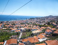 View From The Cable Car Which Runs  From Sea Level In Funchal To Monte High Above The City On The Island Of Madeira Portugal Royalty Free Stock Photography - 95846017