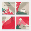 Rough Strokes Gray Pink Green Textured Royalty Free Stock Image - 95855016