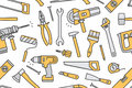 Building Tools Seamless Pattern Stock Images - 95860044