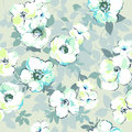 Soft Watercolor Like Floral Print - Seamless Background Stock Photos - 95863533