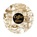 Vector Illustration & X22;Coffee Time& X22; Royalty Free Stock Photos - 95863808