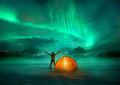 Northern Lights Adventure Stock Images - 95867494