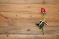 Red Rose On Vintage Wood Background Royalty Free Stock Image - 95882346